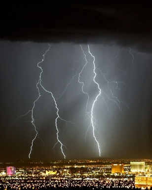 Lightning storm over Vegas