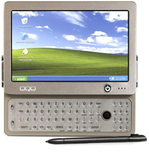OQO keyboard and screen