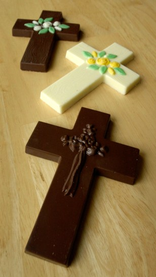 Chocolate Easter crosses