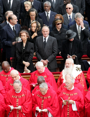 IMAGE: Bush at the pope's funeral
