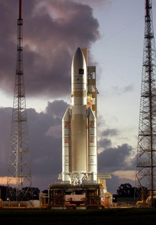 Ariane 5 rocket on Kourou launch pad