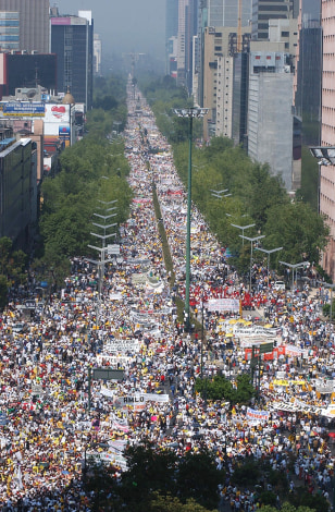 Image: March in Mexico City