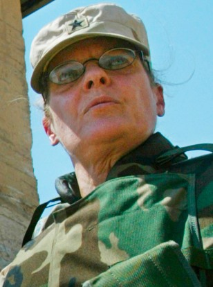 FILE PHOTO OF BRIGADIER GENERAL KARPINSKI OUTSIDE ABU GHRAIB PRISON