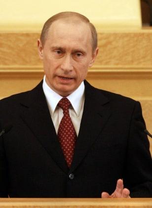 Russian President Vladimir Putin deliver