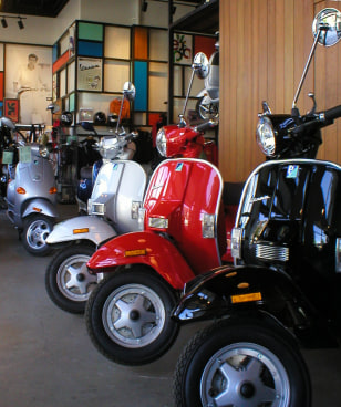 Image: Vespa scooters