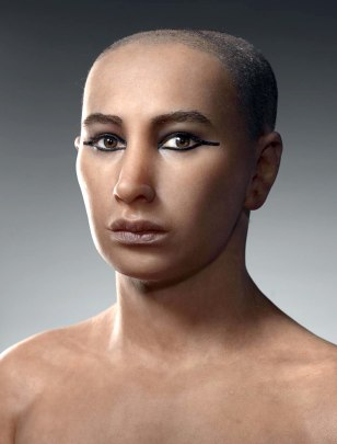 Image: Facial reconstruction of King Tut.