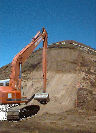 DIGGING TO REMOVE LEAD AT FIRING RANGE AT FORT ORD