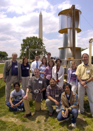 IMAGE: UNIVERSITY OF COLORADO TEAM WITH WIND TURBINE