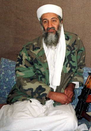 FILE PHOTO OF OSAMA BIN LADEN WITH AYMAN AL-ZAWAHRI IN AFGHANISTAN