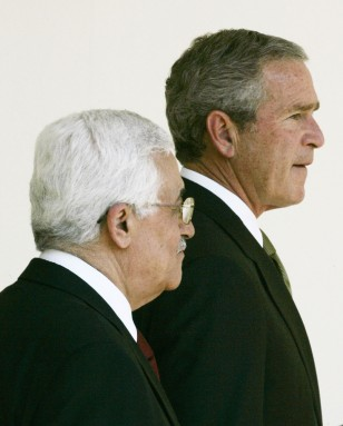 Image: President Bush and Mahmoud Abbas