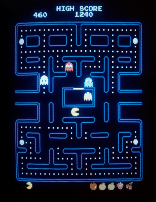 1983-era Pac-Man game