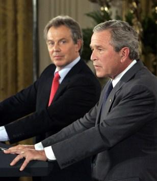 Image: President Bush and British Prime Minister Tony Blair.