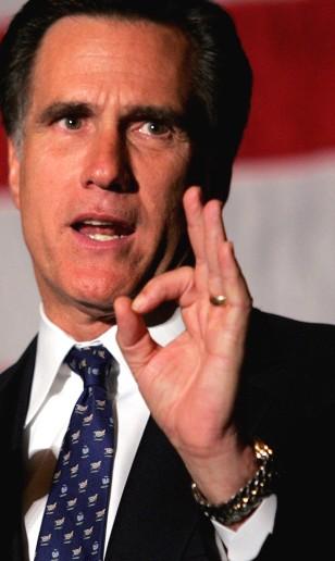 Image: Massachusetts Governor Mitt Romney.
