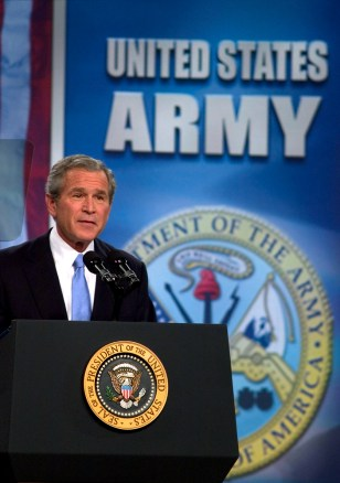 President Bush Addresses The Nation On War In Iraq