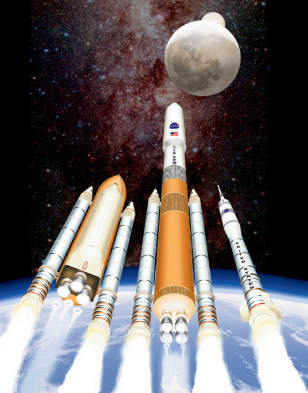 Image: Shuttle-derived launch vehicles