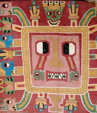 Image: Textile showing deity