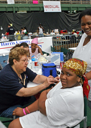Tetanus vaccine administered at Astrodome