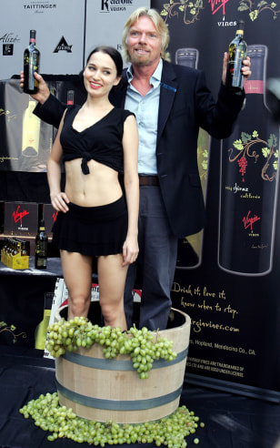 Virgin founder Branson introduces Virgin Vines wine during Fashion Week in New York
