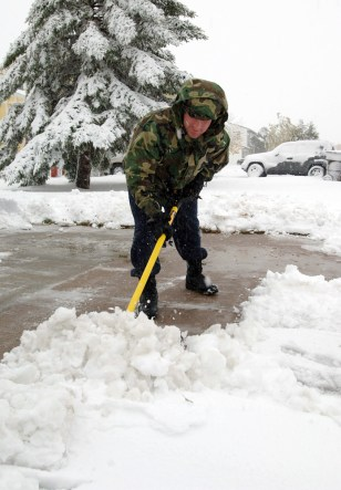 IMAGE: Shoveling snow in North Dakota