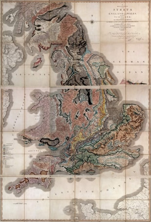 Image: 1815 map of Great Britain