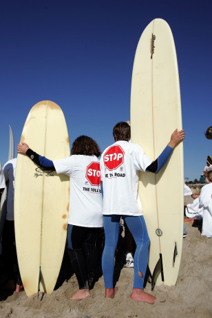 IMAGE: SURFERS PROTESTING