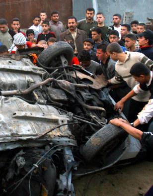 Image: Gaza missile damage