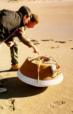 Stardust capsule test drop