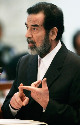 Image: Former Iraqi President Saddam Hussein accused the White House on Thursday of lying about his weapons of mass destruction.