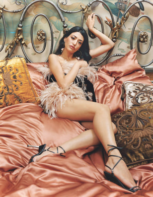 Wafah Dufour poses in undated publicity photo during photo session for January 2006 issue of GQ magazine