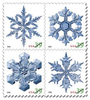 Image: Snowflake stamps