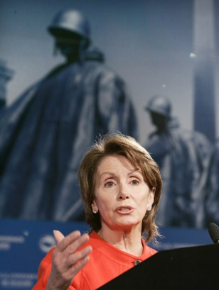 US House Minority Leader Nancy Pelosi speaks at US Conference of Mayors in Washington