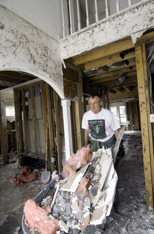 Homeowner rebuilds after Katrina