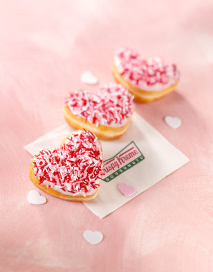 Heart-shaped doughnuts