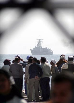 Image: Ferry victim relatives