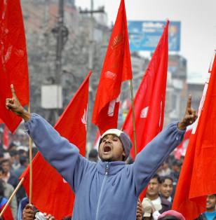 Nepal Activist Shooting Protest