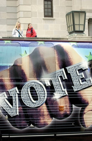 Image: Rock the Vote bus
