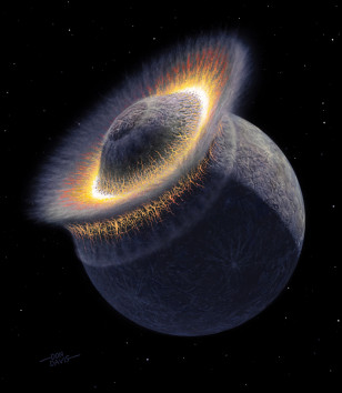 Illustration of Pluto collision