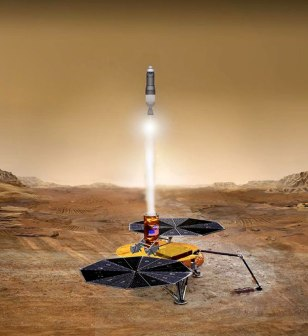 Illustration: Liftoff of Mars Sample Return