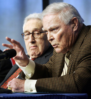 Former U.S. Secretaries of State Alexander Haig and Henry Kissinger