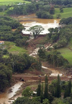 Image: Burst dam