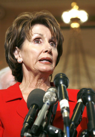 House Minority Leader Pelosi holds a news conference to discuss port security in Washington