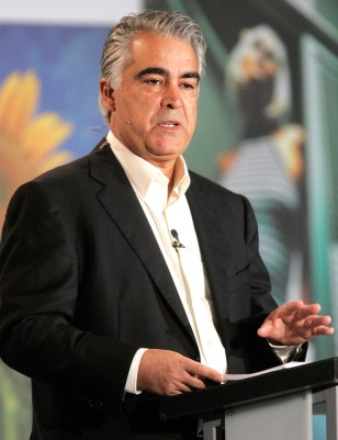 Kodak CEO Antonio Perez speaks at the Consumer Electronics Show in Las Vegas