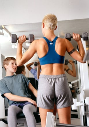 Image: Socializing at the gym