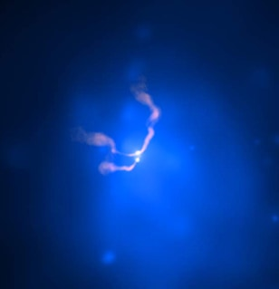 composite image of the galaxy cluster