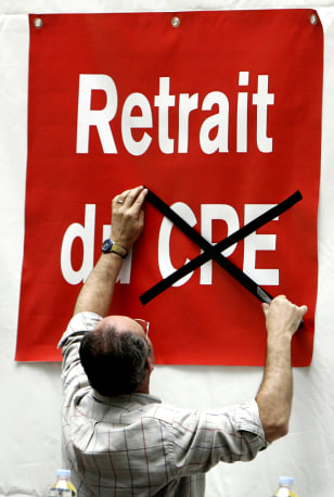 Image: Protester in France