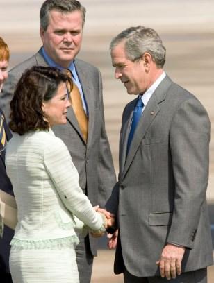 Katherine Harris, Jeb Bush, George W. Bush