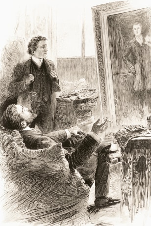 "Image: Illustration from ""The Picture of Dorian Gray."""