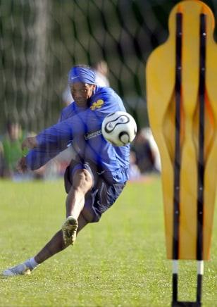 Brazilian striker Ronaldinho