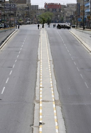 IMAGE: EMPTY ROAD IN BAGHDAD