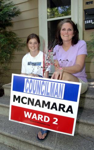 IMAGE: Mike McNamara's family